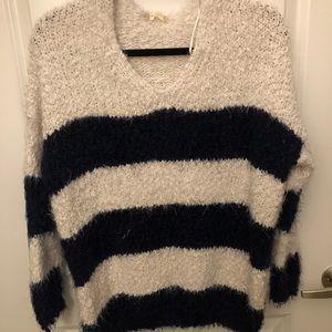 Altar'd State Striped Eyelash Sweater